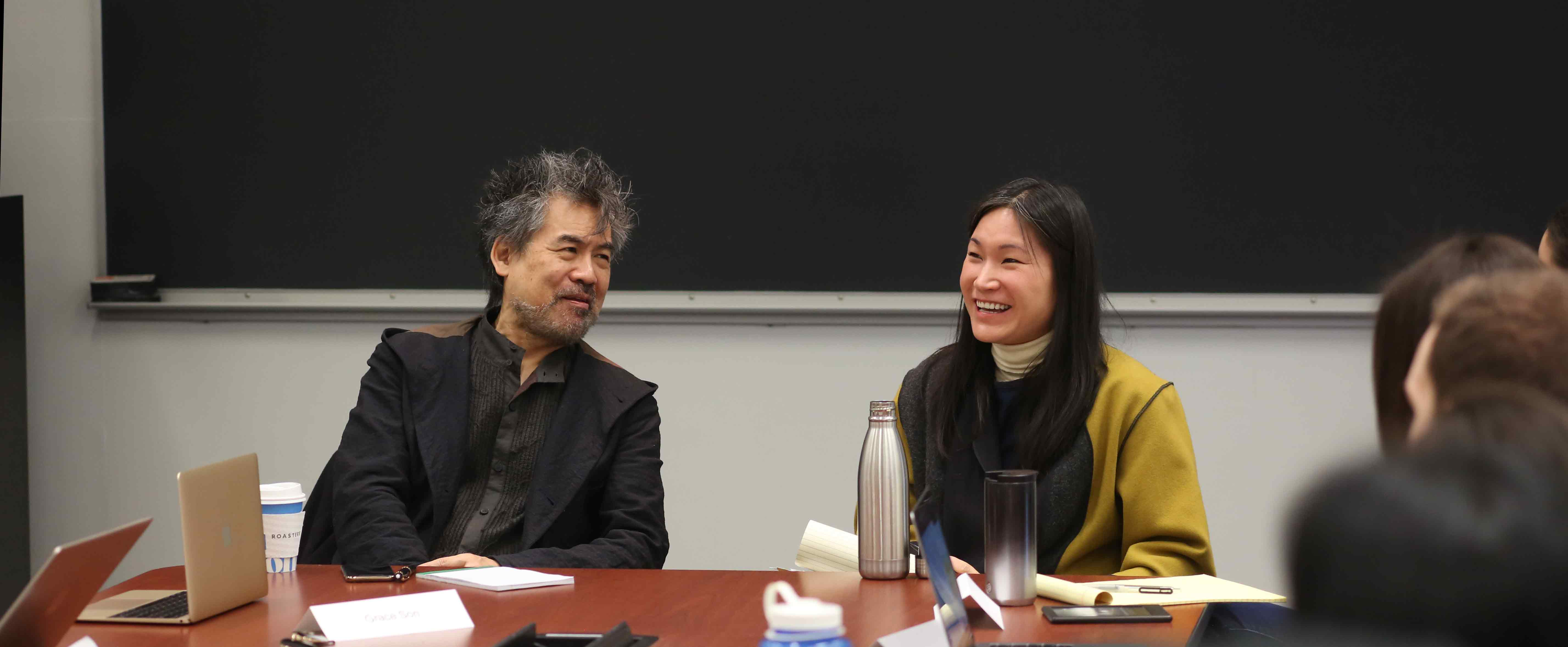 Writers David Henry Hwang and Anelise Chen