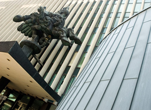 Statue at Columbia Law School