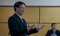 Bert Huang teaching at Columbia Law School