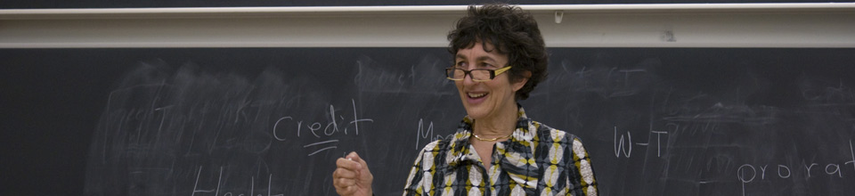 Professor Carol Sanger teaching at Columbia Law School