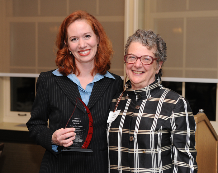 Honored alum Camilla Taylor and Dean for Social Justice Initiatives Ellen Chapnick
