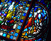 Photo of a stained-glass window