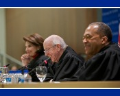 Photo of a panel of three judges
