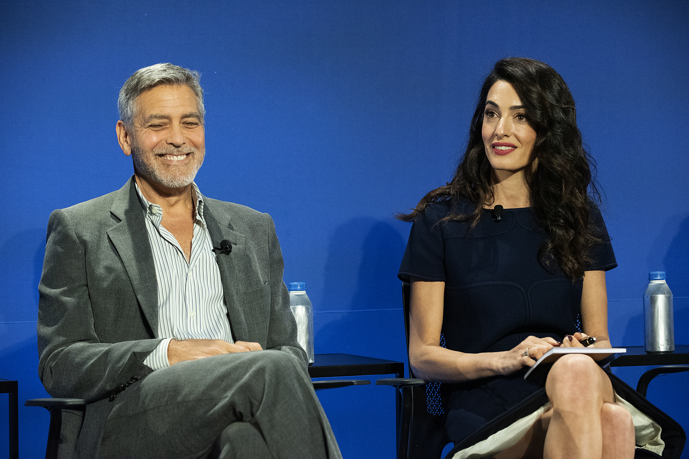 From left: Clooney Foundation for Justice Co-presidents George and Amal Clooney.