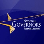 NGA logo on blue background