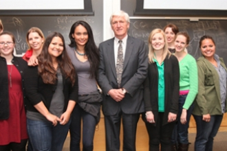 Tim Coulter of the Indian Law Resource Center with CLS students