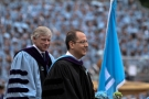 Columbia President Lee Bollinger and Dean David M. Schizer at the University Commencement ceremony on May 22, 2013. Photo: Char Smullyan